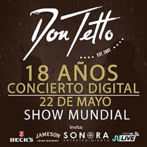 Únete a los 18 años de Don Tetto con su concierto virtual
