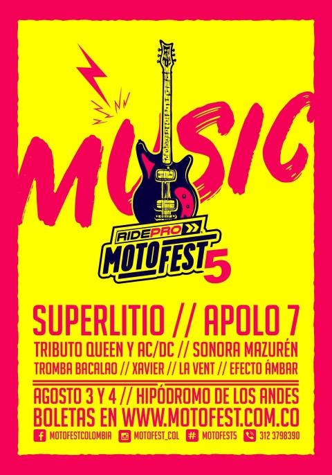 Agenda el MotoFest 5, el festival de motos más grande de Latinoamérica